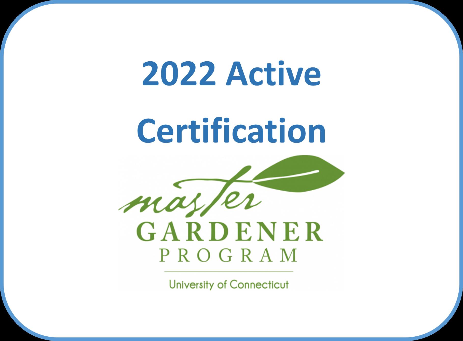 Active Certification 2022 - Fairfield/Bethel